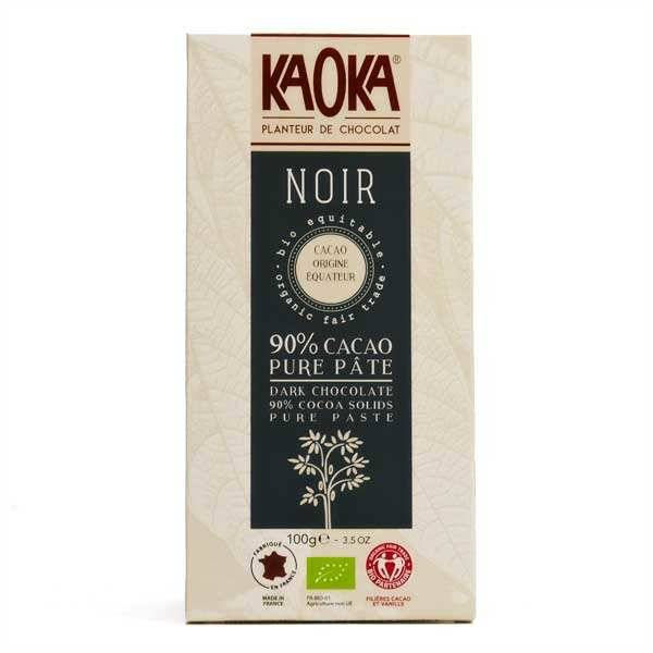 Kaoka Tablette dégustation bio au chocolat noir 90% Equateur - 6 tablettes de 100g