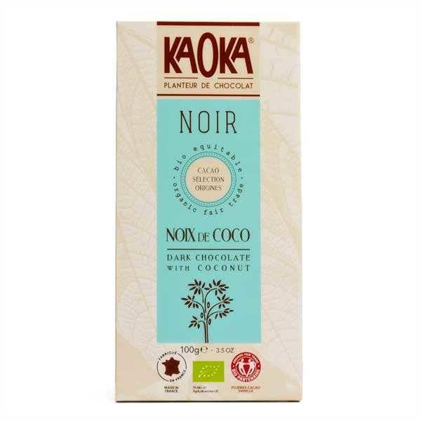 Kaoka Tablette de chocolat noir 55% à la noix de coco bio - 3 tablettes de 100g