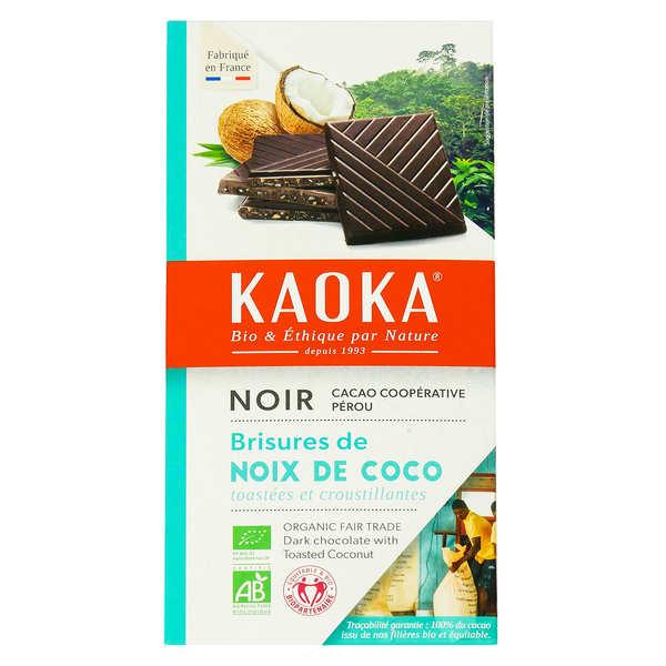 Kaoka Tablette de chocolat noir 55% à la noix de coco bio - 6 tablettes de 100g