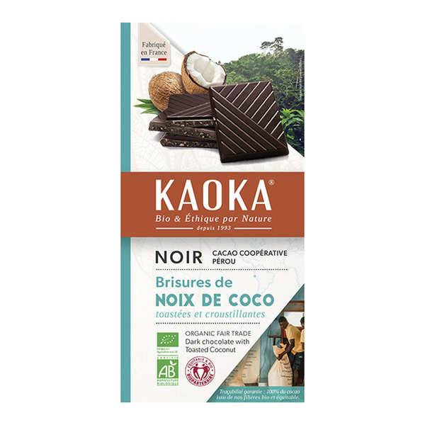 Kaoka Tablette de chocolat au lait 32% à la noix de coco bio - Tablette 100g