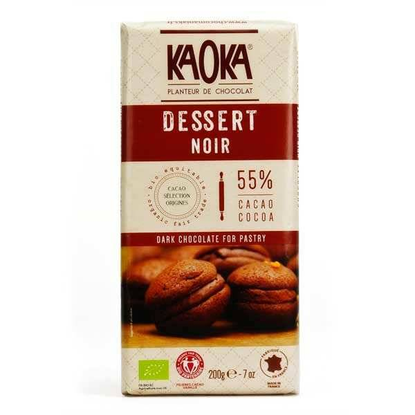 Kaoka Tablette de chocolat dessert noir 55% - 6 tablettes de 200g
