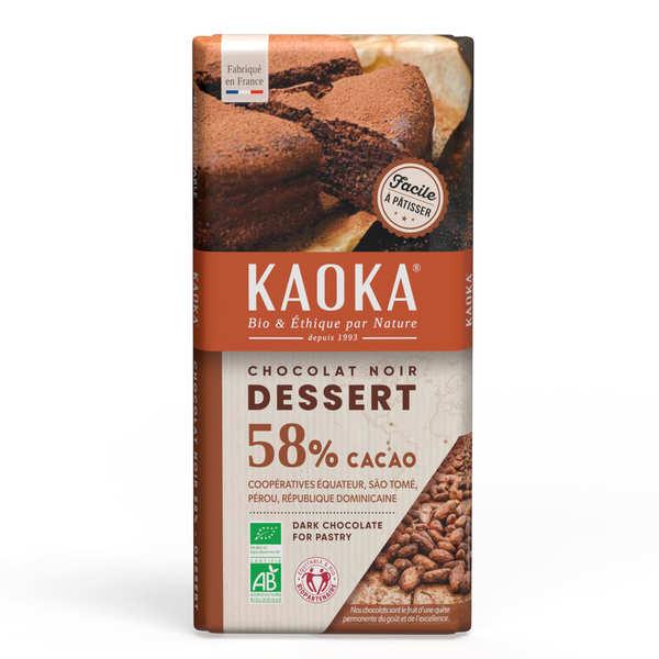 Kaoka Tablette de chocolat dessert noir 55% - 3 tablettes de 200g