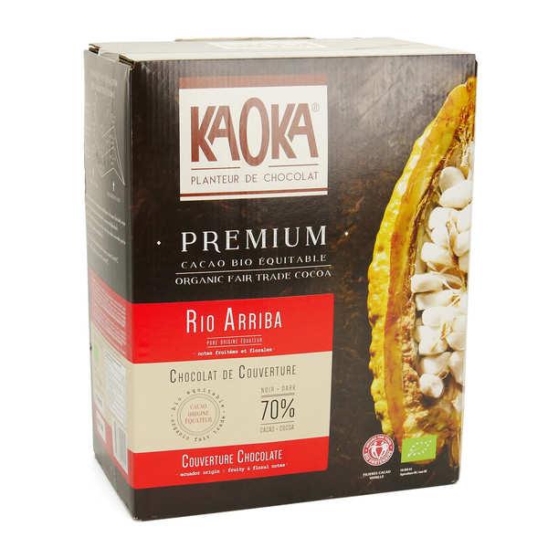 Kaoka Palets de chocolat noir Equateur 72% bio - Chocolat de couverture - Carton 5kg