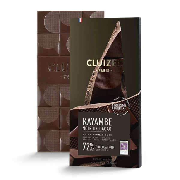 Michel Cluizel Tablette de chocolat noir - Noir de cacao 72% - Tablette 100g