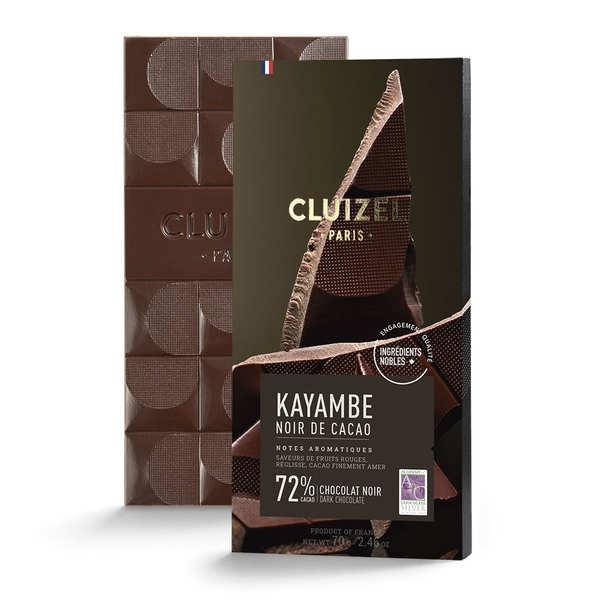 Michel Cluizel Tablette de chocolat noir - Noir de cacao 72% - 10 tablettes de 100g