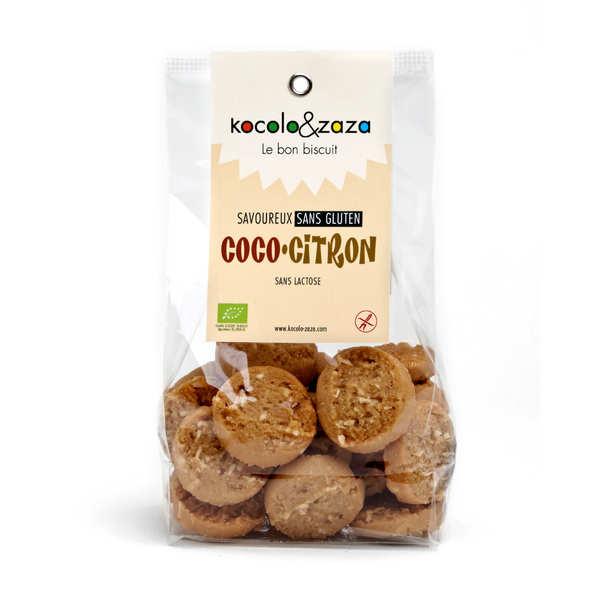 Biscuiterie Kocolo et zaza Biscuits coco citron bio sans gluten et sans lactose - Sachet 120g