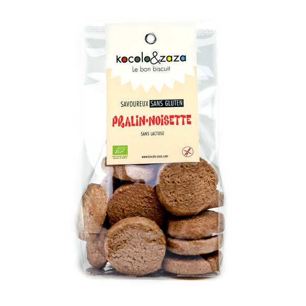 Biscuiterie Kocolo et zaza Biscuits pralin noisette bio sans gluten et sans lactose - Sachet 120g
