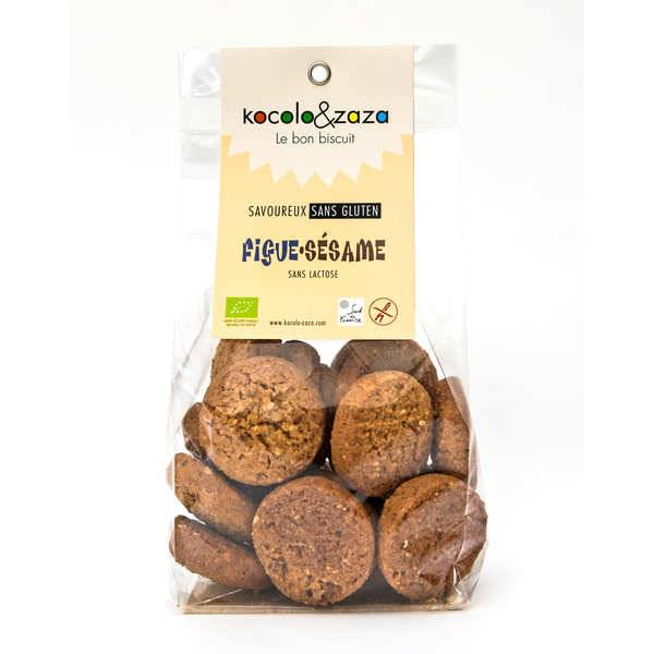 Biscuiterie Kocolo et zaza Biscuit figues sésame bio sans gluten et sans lactose - Sachet 120g