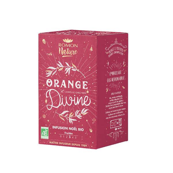 Romon Nature Tisane de Noël bio Romon orange-cannelle - Boîte 20 sachets