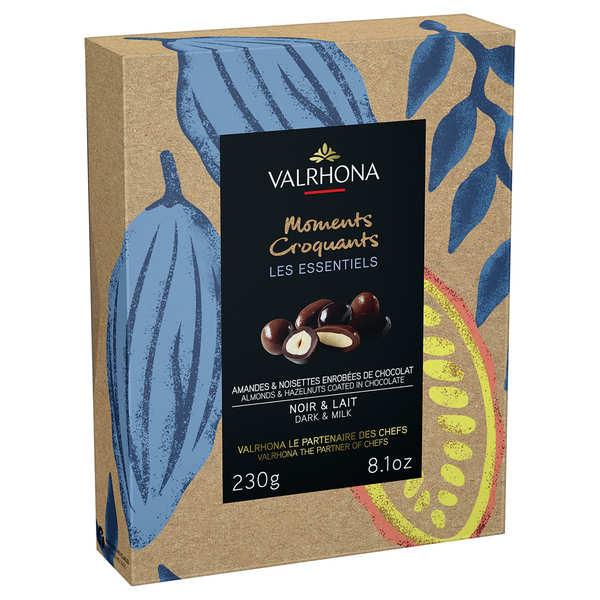 Valrhona Coffret amandes et noisettes grand cru chocolat noir et lait - Valrhona - Coffret 250g