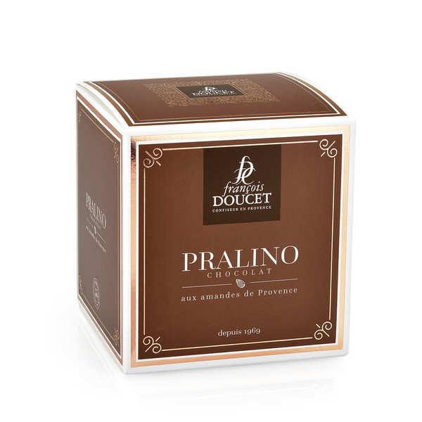 François Doucet Confiseur 'Pralino' Amande enrobée de chocolat - François Doucet - Boite carton cubique 300g