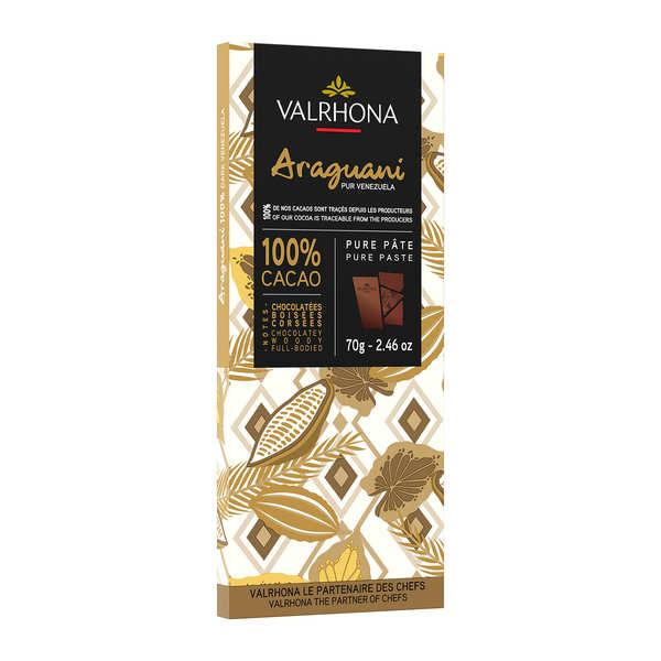 Valrhona Tablette de chocolat noir Araguani Pur Venezuela 72% - Valrhona - Lot de 3 tablettes 70g