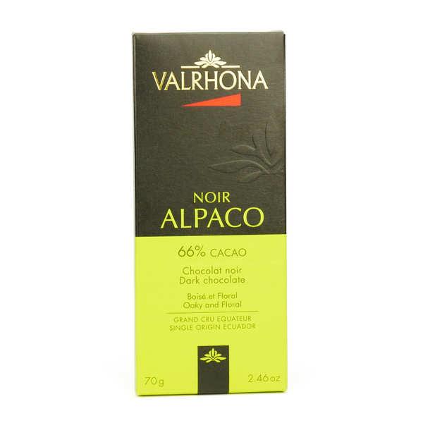 Valrhona Tablette de chocolat noir Alpaco Pur Equateur 66% - Valrhona - Lot de 3 tablettes 70g