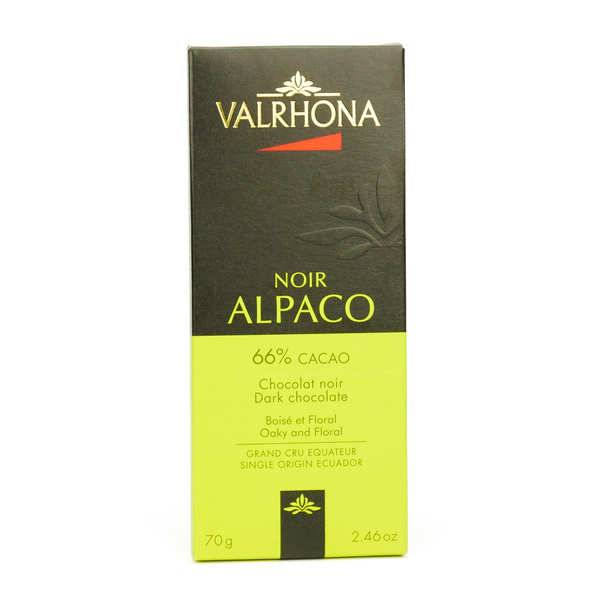 Valrhona Tablette de chocolat noir Alpaco Pur Equateur 66% - Valrhona - Lot de 6 tablettes 70g