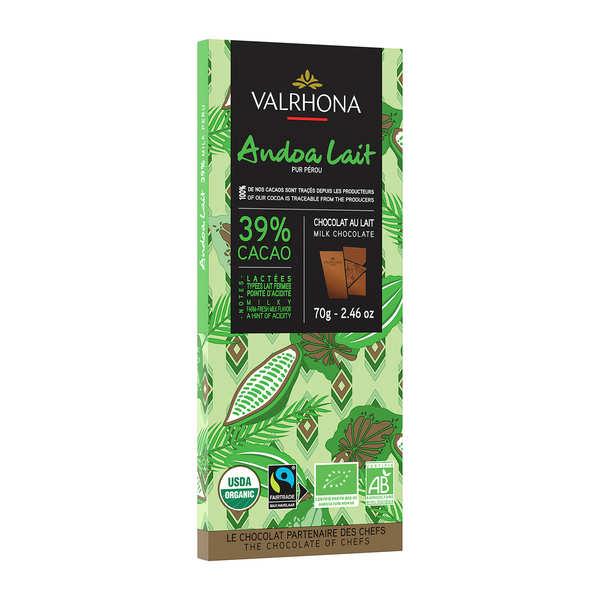 Valrhona Tablette de chocolat au lait Andoa lactée 39% - Valrhona - Lot de 4 tablettes 70g