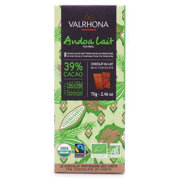 Valrhona Tablette de chocolat au lait Andoa lactée 39% - Valrhona - Tablette 70g