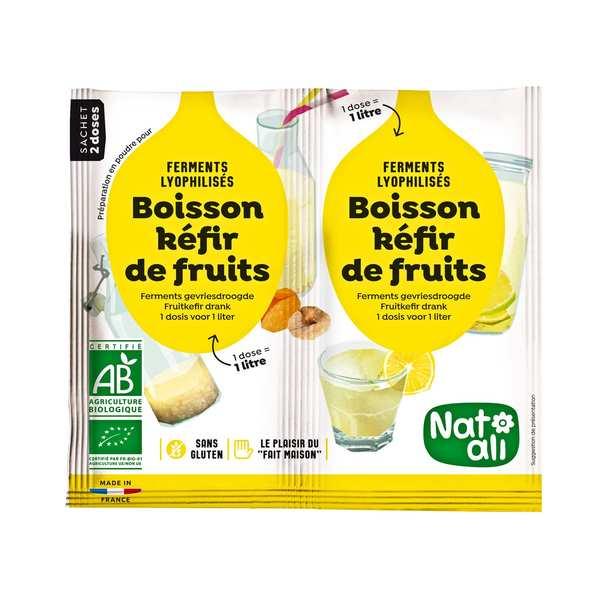 Nat-Ali Préparation pour boisson kéfir de fruit bio - Les 2 doses de 5g