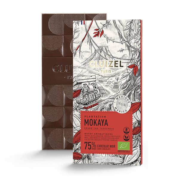 Michel Cluizel Tablette de chocolat de plantation - Mokaya noir 66% bio - 5 tablettes de 70g