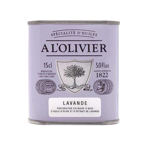 A L'Olivier Huile d'olive vierge extra à la lavande - 6 bidons de 150ml