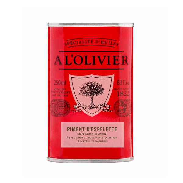 A L'Olivier Huile d'olive vierge extra au piment d'Espelette - Bidon 250ml