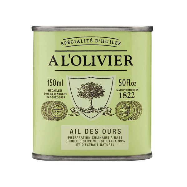 A L'Olivier Huile d'olive vierge extra à l'ail des ours - Bidon 150ml