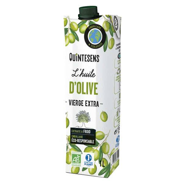 Quintesens Huile d'olive vierge extra bio en tetra pak® - Lot 6 briques de 1L