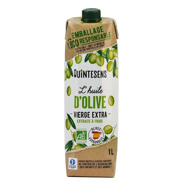 Quintesens Huile d'olive vierge extra bio en tetra pak® - Lot 3 briques de 1L