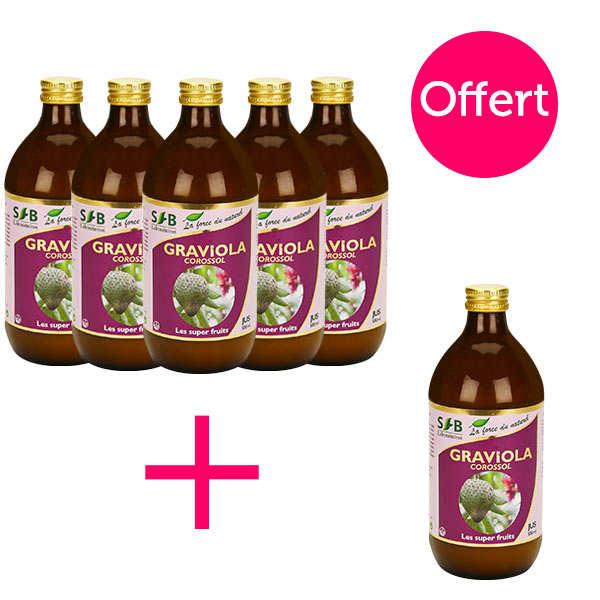 Laboratoire SFB Pur jus de graviola (corossol) - 5 + 1 offert - 5 bouteilles de 50cl + 1 offerte