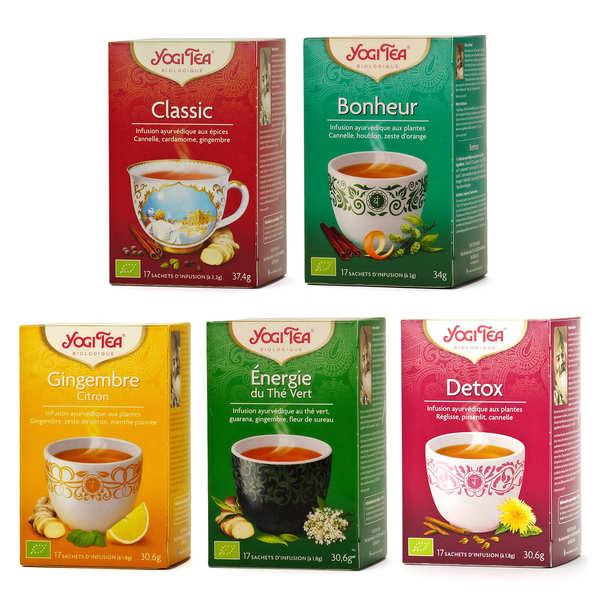 Yogi Tea Offre découverte infusions ayurvédiques bio Yogi Tea - 5 boites de 17 sachets