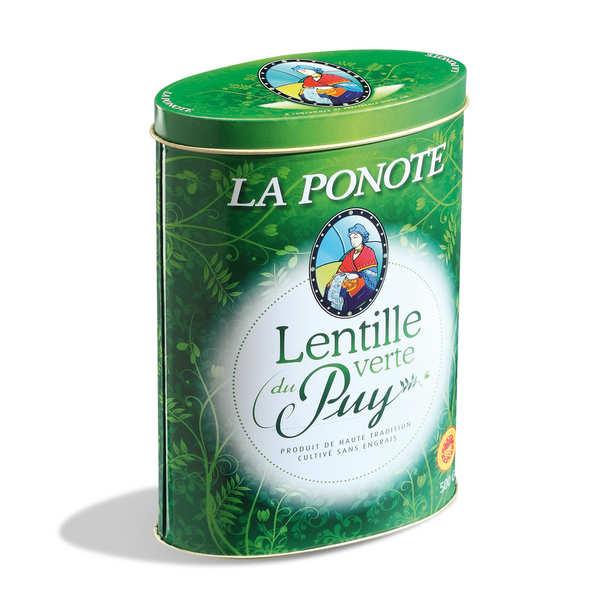 Trescarte Lentilles vertes du Puy - AOP - boîte métallique de 500g