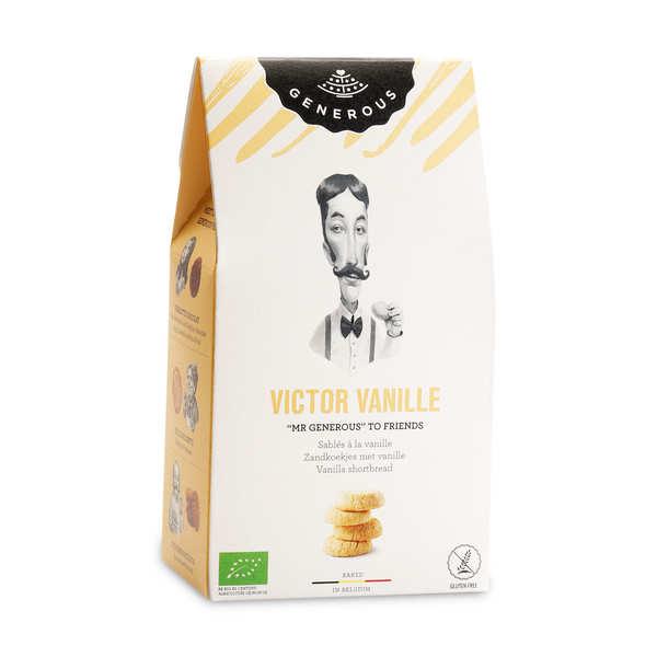 Generous Sablés à la vanille de Victor bio et sans gluten - Paquet 120g