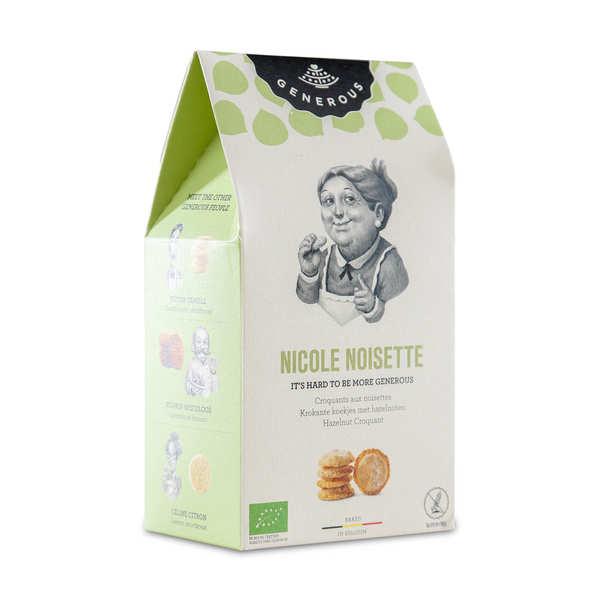Generous Croquants aux noisettes de Nicole bio - Paquet 100g