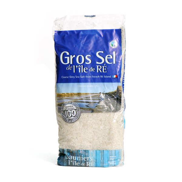 Coopérative des Sauniers de l'Ile de Ré Gros sel marin de l'Ile de Ré - sachet - Sachet 1 kg