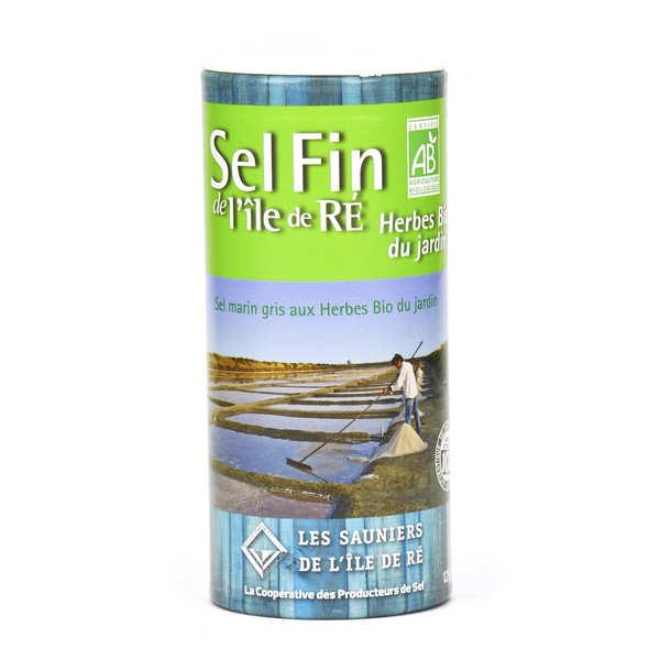 Coopérative des Sauniers de l'Ile de Ré Salière de sel fin de l'Ile de Ré aux herbes bio du jardin - Pot verseur 125g
