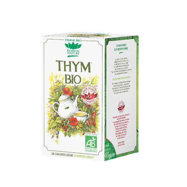 Romon Nature Tisane de thym bio - Lot de 3 boîtes 20 sachets