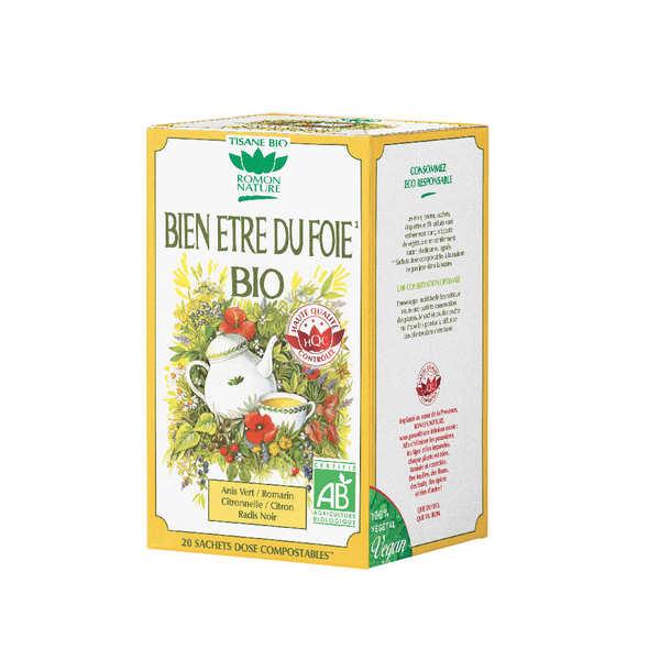 Romon Nature Tisane bien-être du foie bio - Boîte 20 sachets