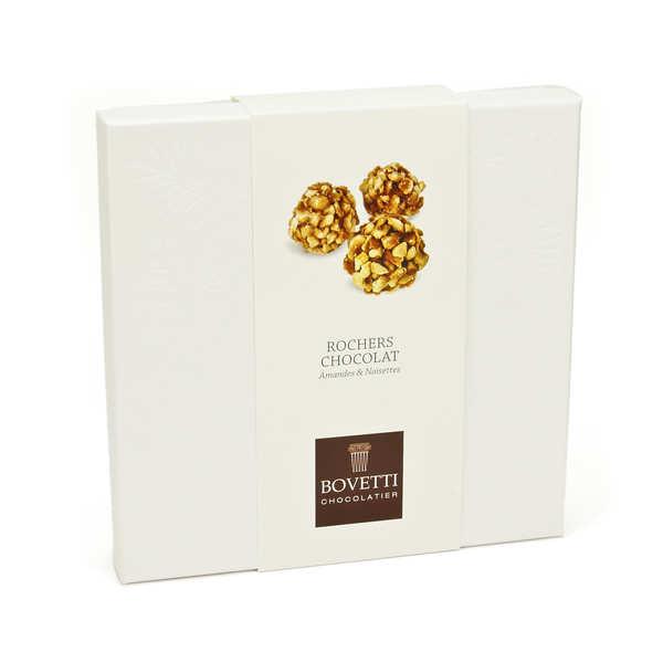 Bovetti chocolats Rochers chocolat au lait et amande aux éclats de noisette - Boîte 150g