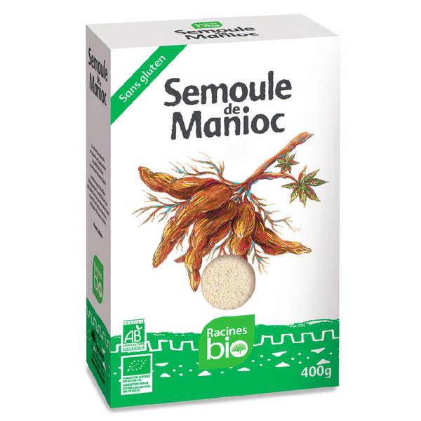 Racines Semoule de manioc bio et sans gluten - 6 paquets de 400g