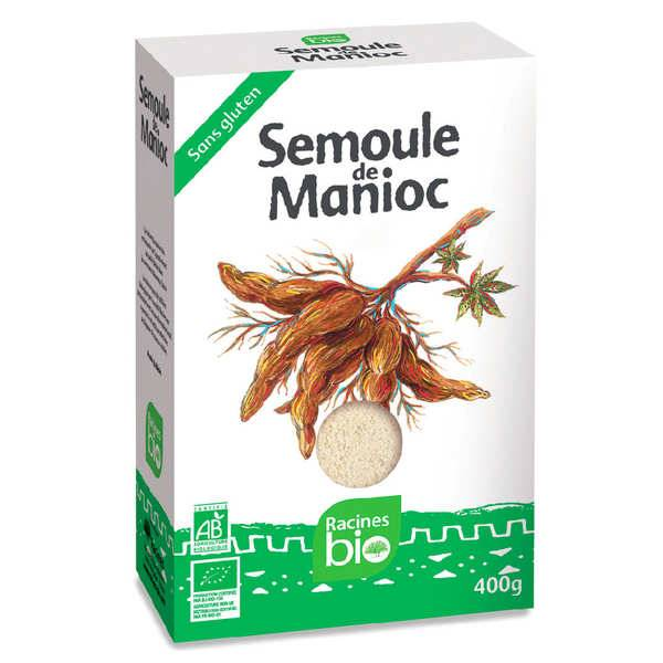Racines Semoule de manioc bio et sans gluten - 3 paquets de 400g