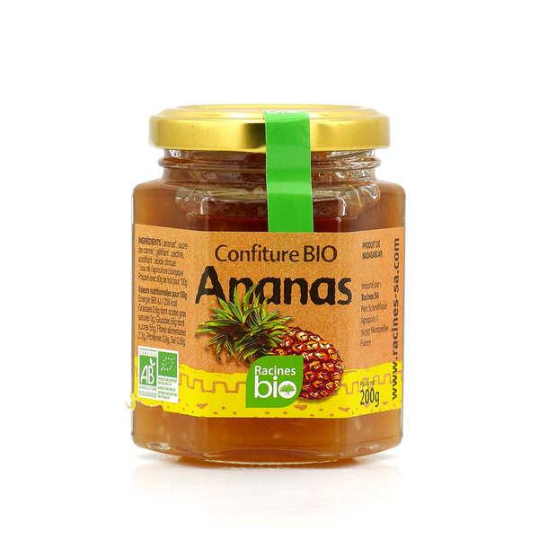 Racines Confiture d'ananas de Madagascar bio - 3 pots de 200g