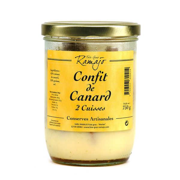 SARL Ramajo Foie Gras Confit de canard du Gers - Boîte de 750g (2 cuisses)