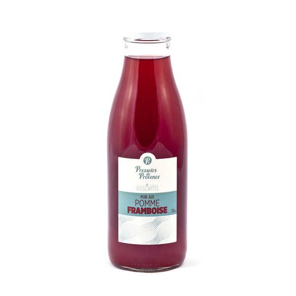 Pressoirs de Provence Pur jus de pomme-framboise - Bouteille 75cl
