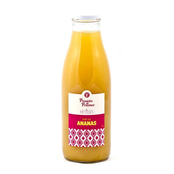 Pressoirs de Provence Pur jus d'ananas - Bouteille 75cl