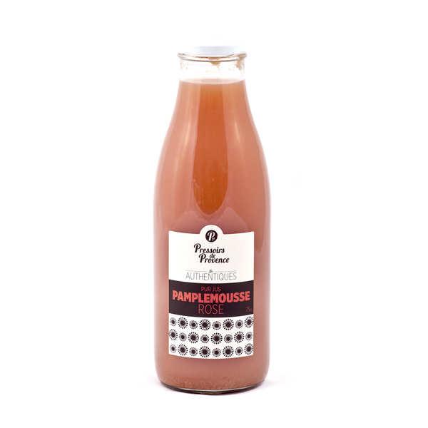 Pressoirs de Provence Pur jus de pamplemousse rose - Pressoirs de Provence - Bouteille 75cl