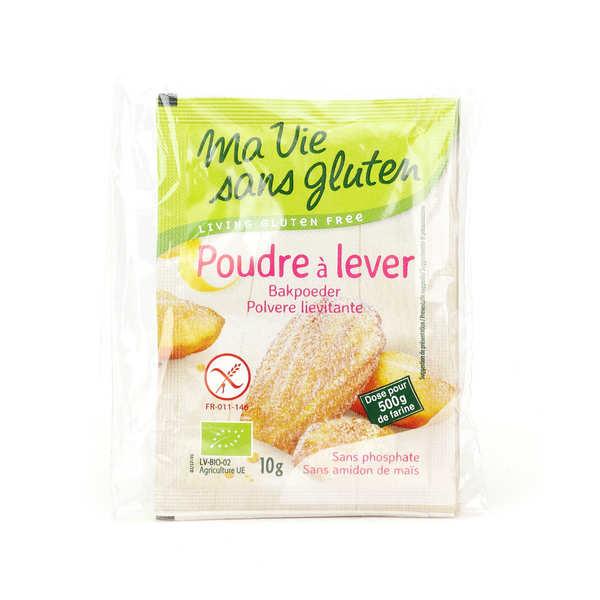 Ma vie sans gluten Poudre à lever bio - sans gluten et sans amidon de maïs - lot de 5 (4 sachets de 10g)