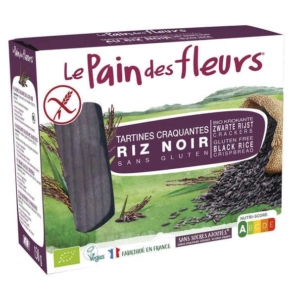Le Pain des Fleurs au riz noir bio - sans gluten - 3 paquets de 150g