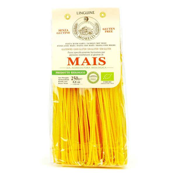 Morelli - Antico pastificio toscano Pâtes Linguine au maïs sans gluten bio - 3 sachets de 250g