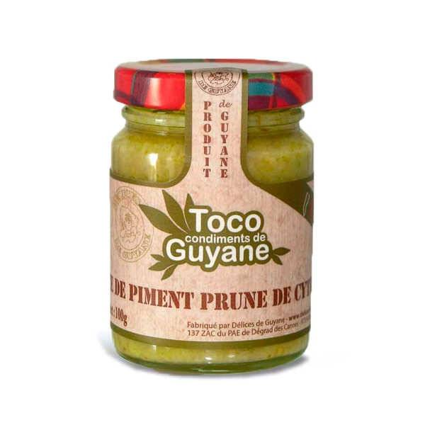 Délices de Guyane Pâte de piment à la prune de cythère - Bocal 100g