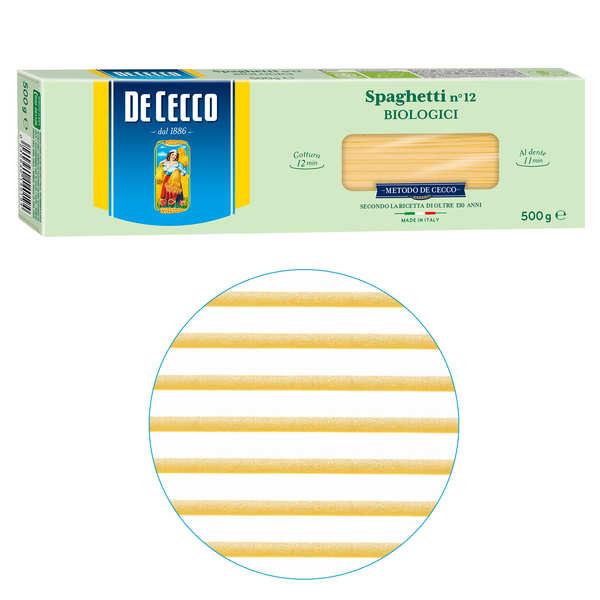 De Cecco Spaghetti n°12 bio De Cecco - 10 sachets de 500g