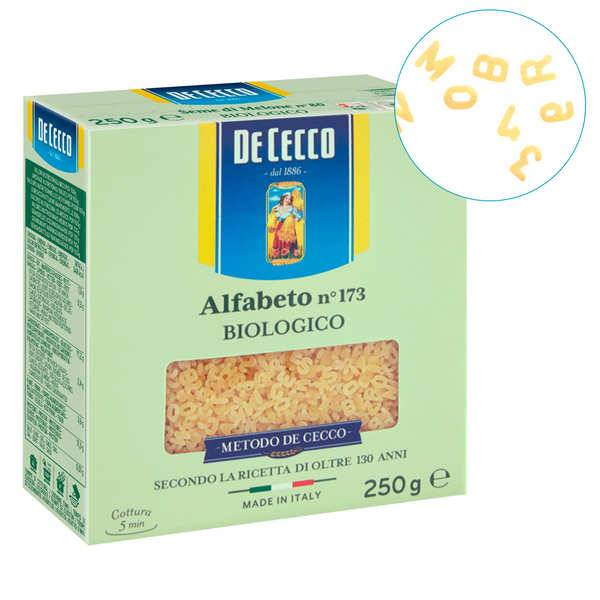 De Cecco Pâte alphabet bio n°173 De Cecco - 6 sachets de 250g
